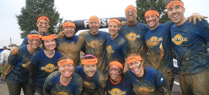 Home Team participants in Tough Mudder event