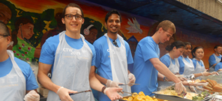 Volunteers at a Covenant House New York Corporate Service Day