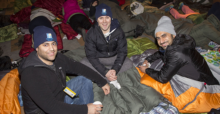 3 Men at Sleep Out