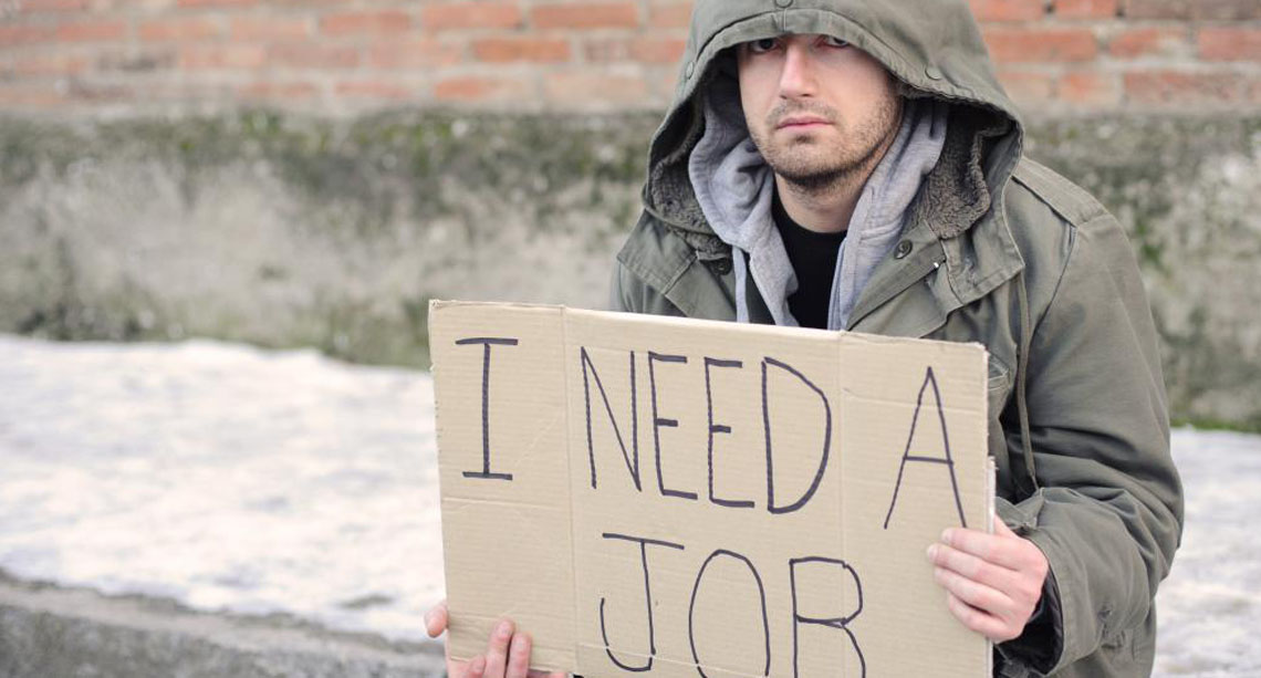 Homeless youth looking for a job