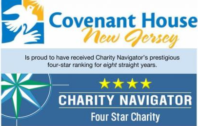 Covenant House New Jersey and Charity Navigator Logos