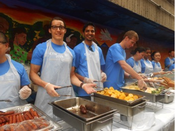 Volunteers Serving Lunch
