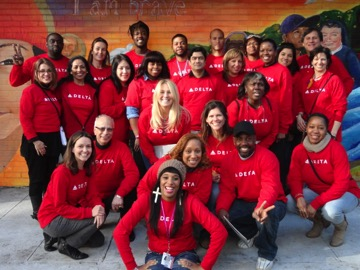 Delta Volunteers at Covenant House New York