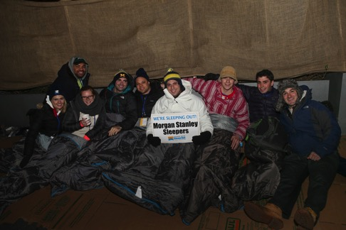 Sleep Out participants from Morgan Stanley