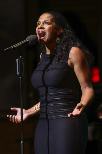 Audra McDonald performing at A Night of Broadway Stars