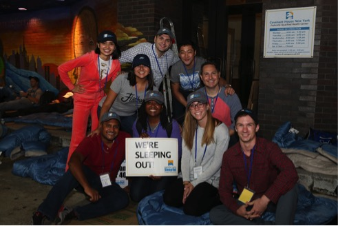 Participants at the Reinsurance Sleep Out in 2016