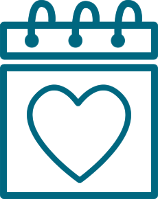 Calendar with heart icon for Charitable Gift Annunity